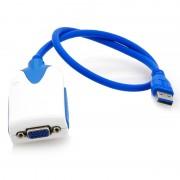 Adaptateur USB 3.0 vers VGA pour écran multiple - Compatible 2048x1152
