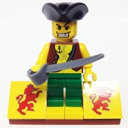 "Minifigure Packs: Lego Pirates Bundle ""(1) Pirate Rummy"" ""(1) Figure Display Base"" ""(1) Figure Accessory"""