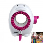 Ping黫no estilo textiles de lana Toy Machine - Blanco + Rosa
