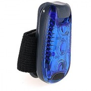 Clip On LED Safety Light High Visibility Running Lights 3 Lighting Modes for Runners Dogs Cycling Walking (Blue)