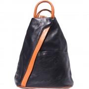 Florence Leather Market Borsa a zaino e a spalla in vera pelle con tante tasche da donna (2061)