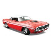 Maisto 31263 - Modellino Auto Dodge Challenger R/T Coupe' 1970 Rosso / Bianco Scala 1:24