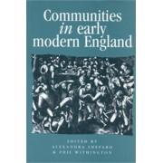 Communities in Early Modern England by Alexandra Shepard