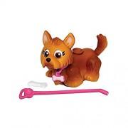 Giochi Preziosi - Pet Parade, Cucciolo di Cane, Razza Yorkshire con Osso e Guinzaglio, Marrone