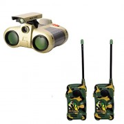 combo of Binocular With Night Vision and army Walkie Talkie set for kids