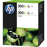 HP D8J44AE - Pack de 2 Encres HP Couleur (YMC) - N° 300XL 440 Pages - Pour DeskJet D166x/D2563/D26xx/D5560