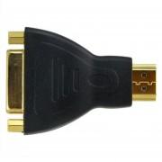 Louiwill Plateado Oro Con Conexiones DVI-D (24 + 1) Hembra A HDMI Macho Adaptador De Conector, Negro