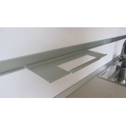 MENSOLA Porta rotolo alluminio anodizzato porta accessori cm 45