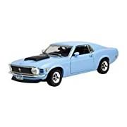 "Motormax GOTZMM73154BU 1:18 Scale Blue ""1970 Ford Mustang Boss 429"" Die Cast Model Car"