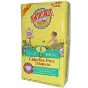 Earths Best Chlorine Free Earth Friendly Disposable Diapers Size: Size 1