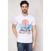 Marshall Franklin & Marshall Tshirt Jersey Round White L