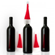 4 caciulite Mos Craciun pentru sticle