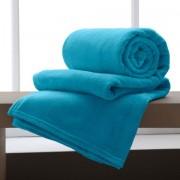 Manta Casal Flannel Home Design Azul II - Corttex