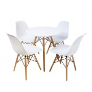 Combo Special Price - Replica Eames Dining Table (70cm) and 4 x Eames Dining Chairs