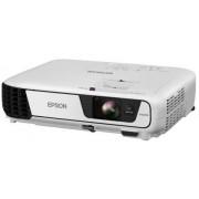 Videoproiector Epson EB-S31, 3200 lumeni, 800 x 600, Contrast 15000:1, HDMI (Alb) + Ecran de proiectie Qwerty 150 x 150 cm