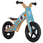 "Rebel Kidz Wood Air Lernlaufrad 12"" Le Mans blau/orange Kinderfahrräder"