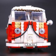 YILE 006 21001 the T1 Camper Van Model Building Blocks kits Compatible with lego 10220 Technic car Toys