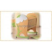 Erbesi Italia - Cosulet de dormit BUCANEVE alb-verde-orange