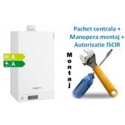 Pachet centrala condensatie Viessmann Vitodens 100 W - 35 KW combi cu manopera montaj si autorizare ISCIR