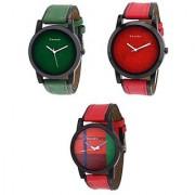 Danzen combo of Three men's Watches dz-422-417-418