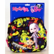 Littlest Pet Shop - Blythe Loves Littlest Pet Shop - Black & Yellow Music Theme Cosmetic Case (accesorio de disfraz)