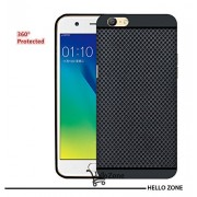 Hello Zone Exclusive Dotted Matte Finish Soft Back Case Cover For Oppo A57-Balck
