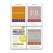 Teach Yourself Business Management 4 Books Collection Set Project Social Media Marketing Public Relation Assertiveness