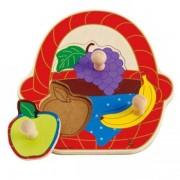 Jucarie eco din lemn Puzzle Cosul cu Fructe Hape