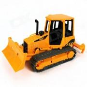 Plastic Toy Bulldozer - Negro + amarillo + gris