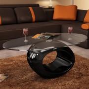 vidaXL Konferenční stolek, černý okrouhlý