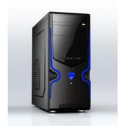 Gembird gaming PC case Midi Tower ATX black-blue (USB 3.0 + 2.0) CCC-GJ-09-B