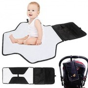 Portable Diaper Changing Pad - Mightyhand Baby Diaper Changing Station - Travel Change Mat with Storage Pockets for Baby (Black)