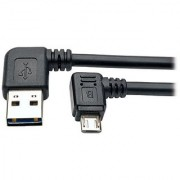 TRIPP LITE Reversible USB Charge Cable Left Right A to Right 5-Pin Mic B (UR05C-003-RARB)