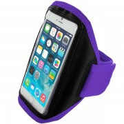 Purple Apple iPhone 6 / 6S Sports Armband Case for Running, Jogging, Gym