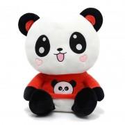 Cute Happy Panda wearing beautiful Red Baby Panda T-shirt