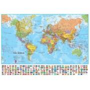 Wereldkaart 66ML-mvlE Politiek, 136 x 100 cm | Maps International