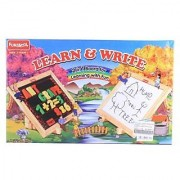 Funskool Learn Write 2 In 1 Magnetic Writing Board Multi Color (Board For Learning With Fun)