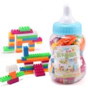 Magideal 100Pcs Plastic Puzzle Educational Building Block Bricks Toy For Kids