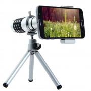 Quazar teleobjektív okostelefonokhoz mini fotóállvánnyal, szürke