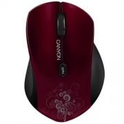 Myš Canyon CNS-CMSW4R, Wireless optická, USB, 800/1280 dpi, 6 tlač, Power Saving, červená