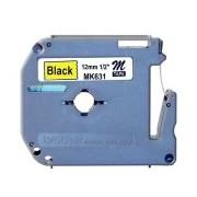 Brother MK631, 12mm x 8m, černý tisk / žlutý podklad kompatibilní
