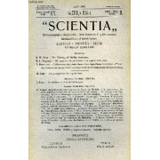 Scientia, Year Xiv, Vol. Xxvii, N° Xcvi-4, Serie Ii, 1920, Rivista Internazionale Di Sintesi Scientifica, Revue Internationale De Synthese Scientifique, International Review Of Scientific ...