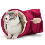Hunter Cat Tube - Pink & Plush Tan