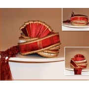 Wedding Wear Red Art Silk Turban Groom - 72515