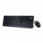 Kit tastatura si mouse Genius Slimstar C130 USB Black