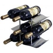 Stojan na 9 vín nerezový