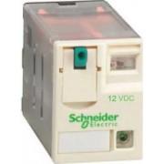 Releu conectabil miniatural - zelio rxm - 4 c/o - 12 v c.c. - 6 a - cu led - Relee de interfata - Zelio relaz - RXM4AB2JD - Schneider Electric