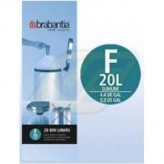 Brabantia szemeteszsák 20l 20 db, F