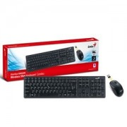 Kit Tastatura + Mouse Wireless Genius Slimstar 8000-ME Negru