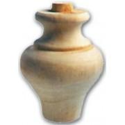 Pata Para Móviles de Madera de Cebolla Ontano Art.03,0109 90 X 115 mm